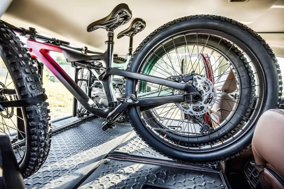 Espaço suficiente para bicicletas