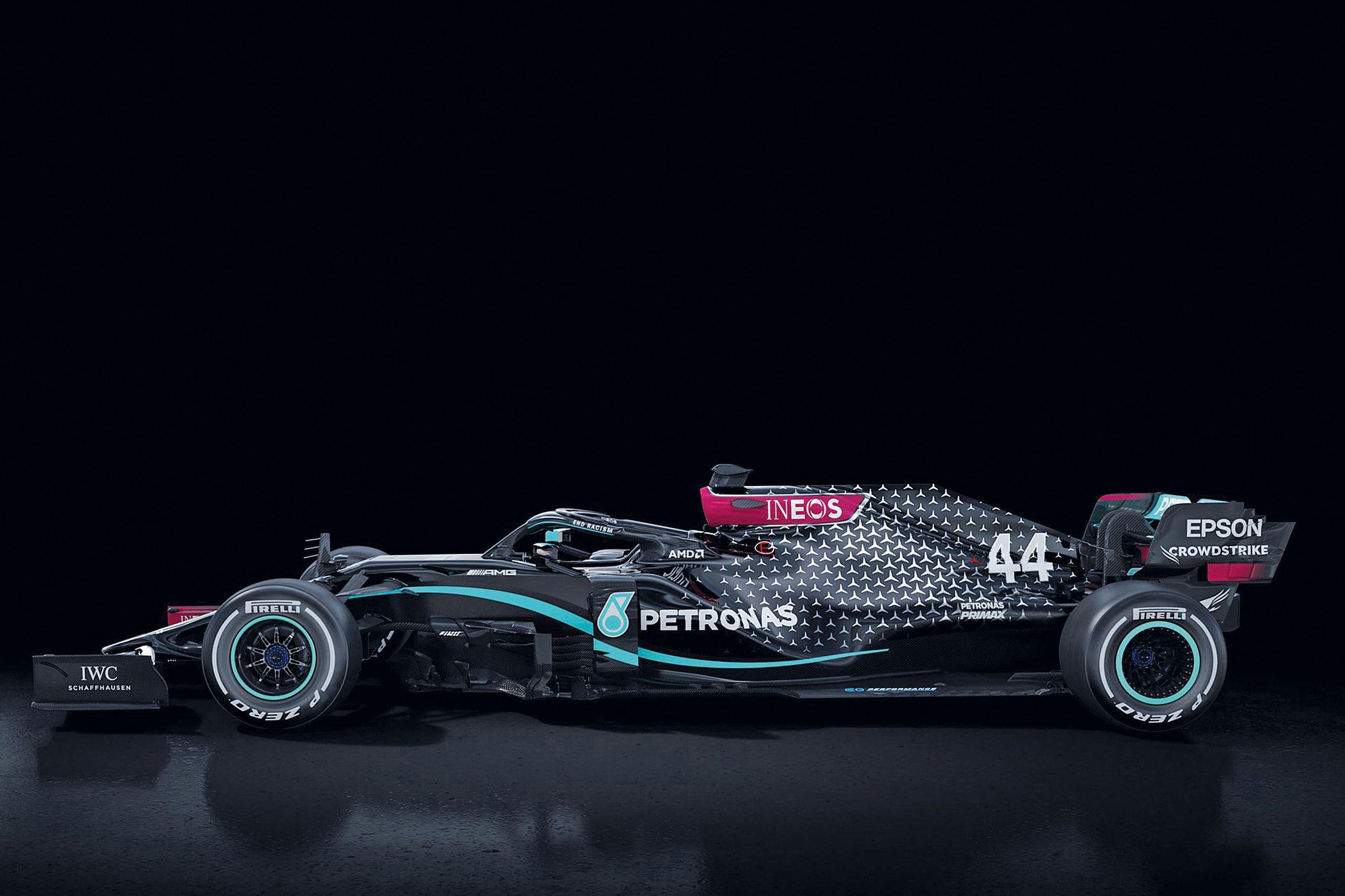 Além dos modelos dirigidos por Lewis Hamilton e Valtteri Bottas, há um Mercedes W11 na nuvem computacional