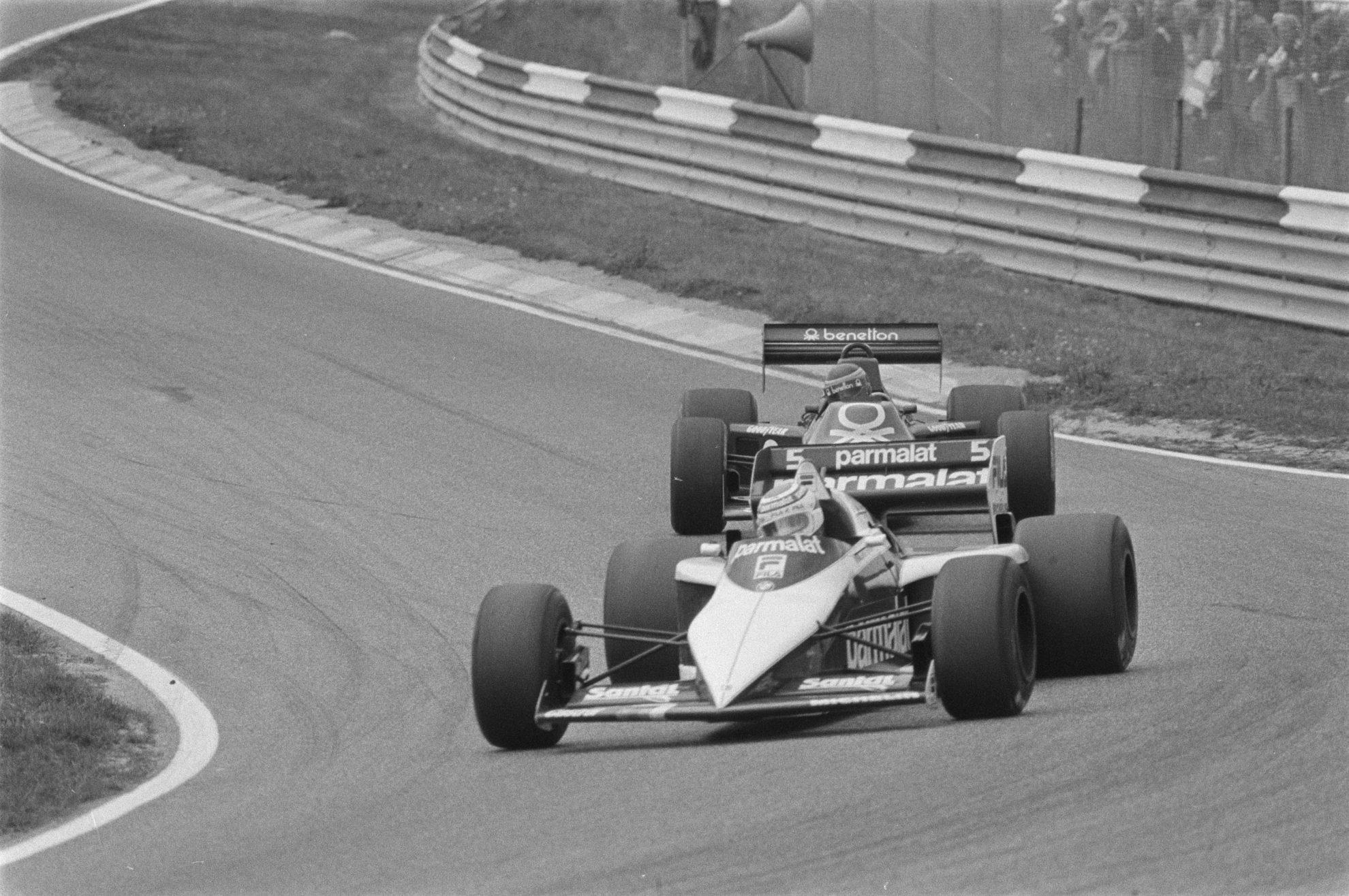 Nelson Piquet com sua Brabham em 1983