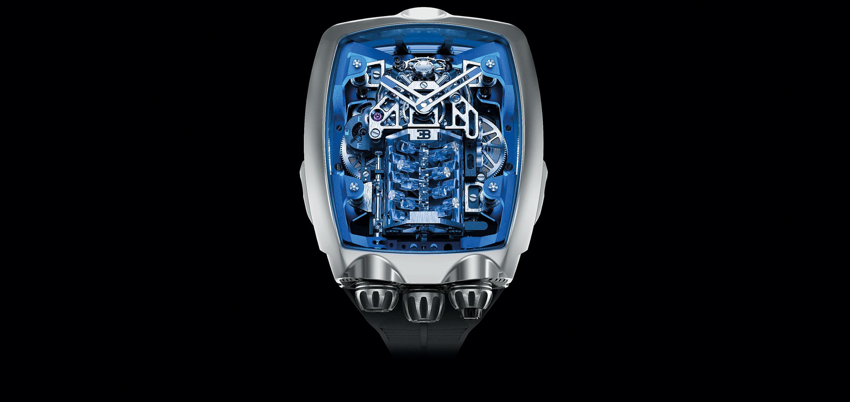 A Jacob & Co criou esse turbilhão no mesmo formato do motor do Bugatti Chiron
