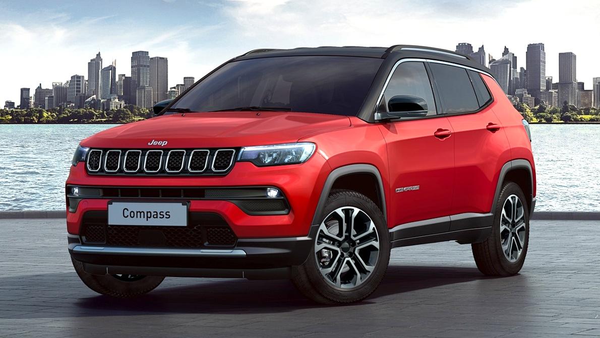 Teto preto chama atenção no novo Jeep Compass 2022
