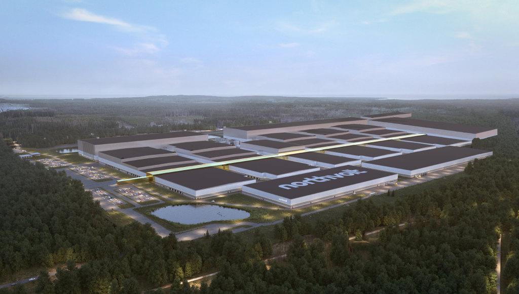 Projeto da fábrica da Northvolt na Suécia