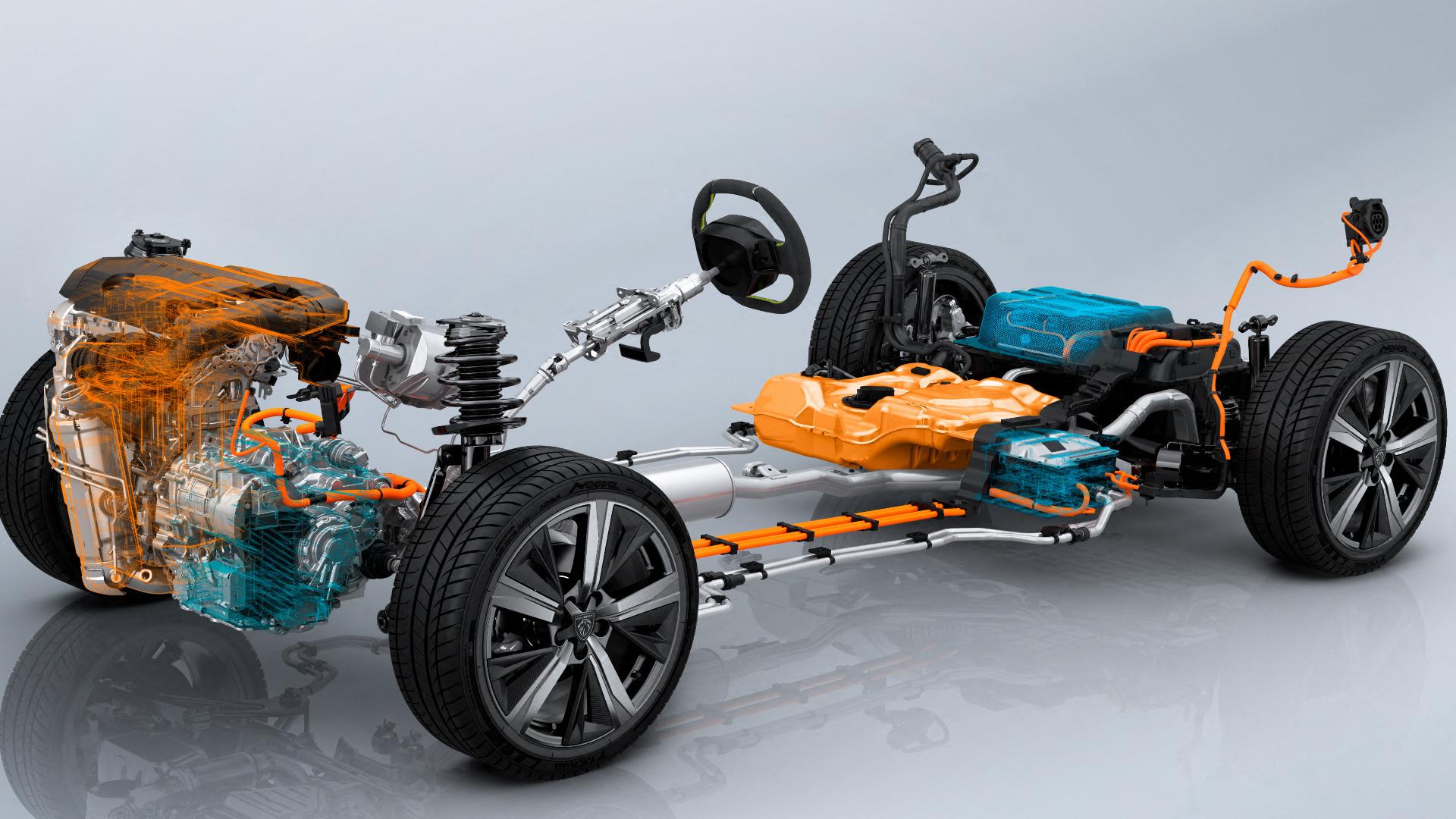 Motores trabalham juntos no eixo dianteiro