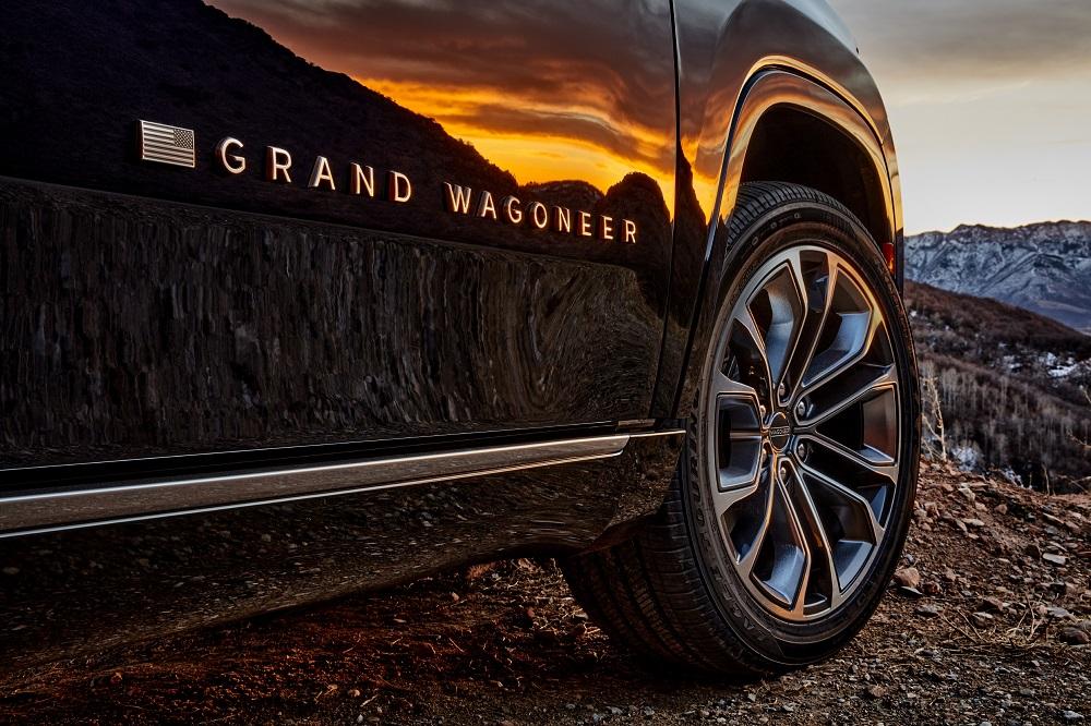 All-new 2022 Grand Wagoneer exterior Grand Wagoneer badge