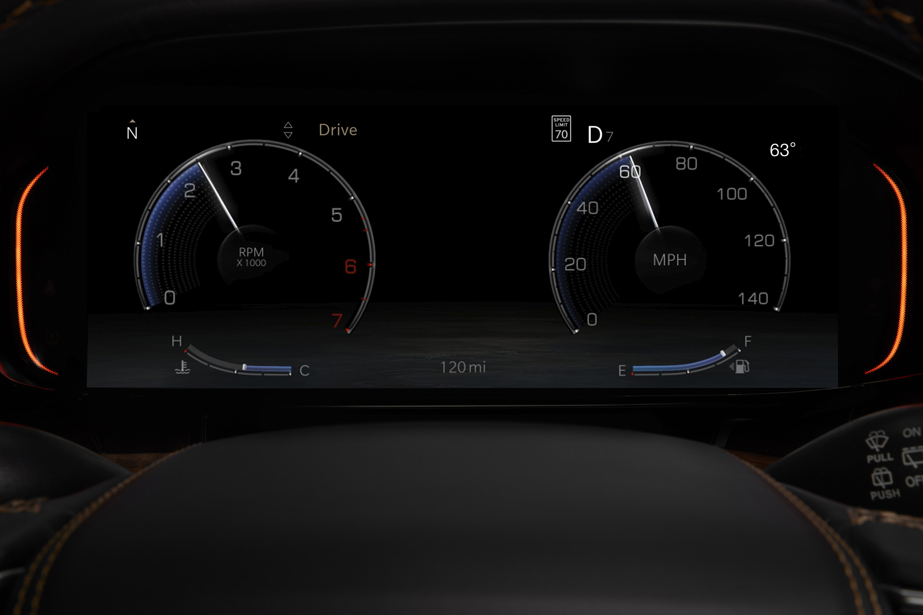 All-new 2022 Wagoneer features a standard 10.25-inch frameless digital cluster with nearly two dozen different menus including an analog speedometer.