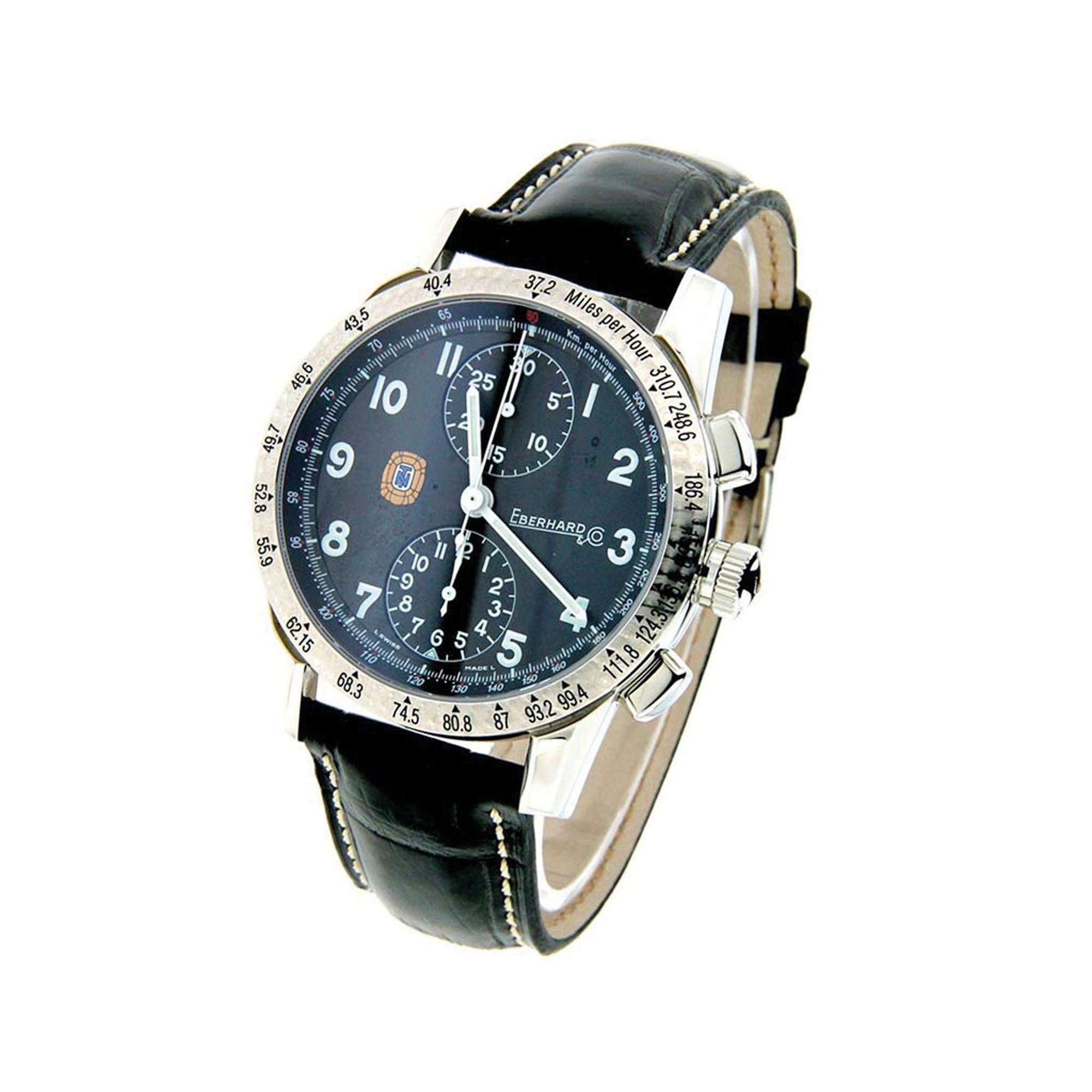 A Eberhard elegeu o piloto Tazio Nuvolari como inspiração para a criação de seus relógios