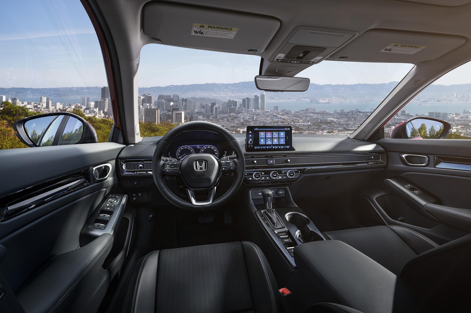 Interior do novo Honda Civic Sport 2022