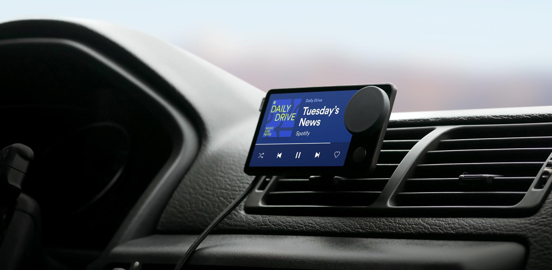 Mesmo caro e difícil de instalar, Spotify garante que seu dispositivo torna a escolha de músicas e podcasts ao volante muito mais fácil