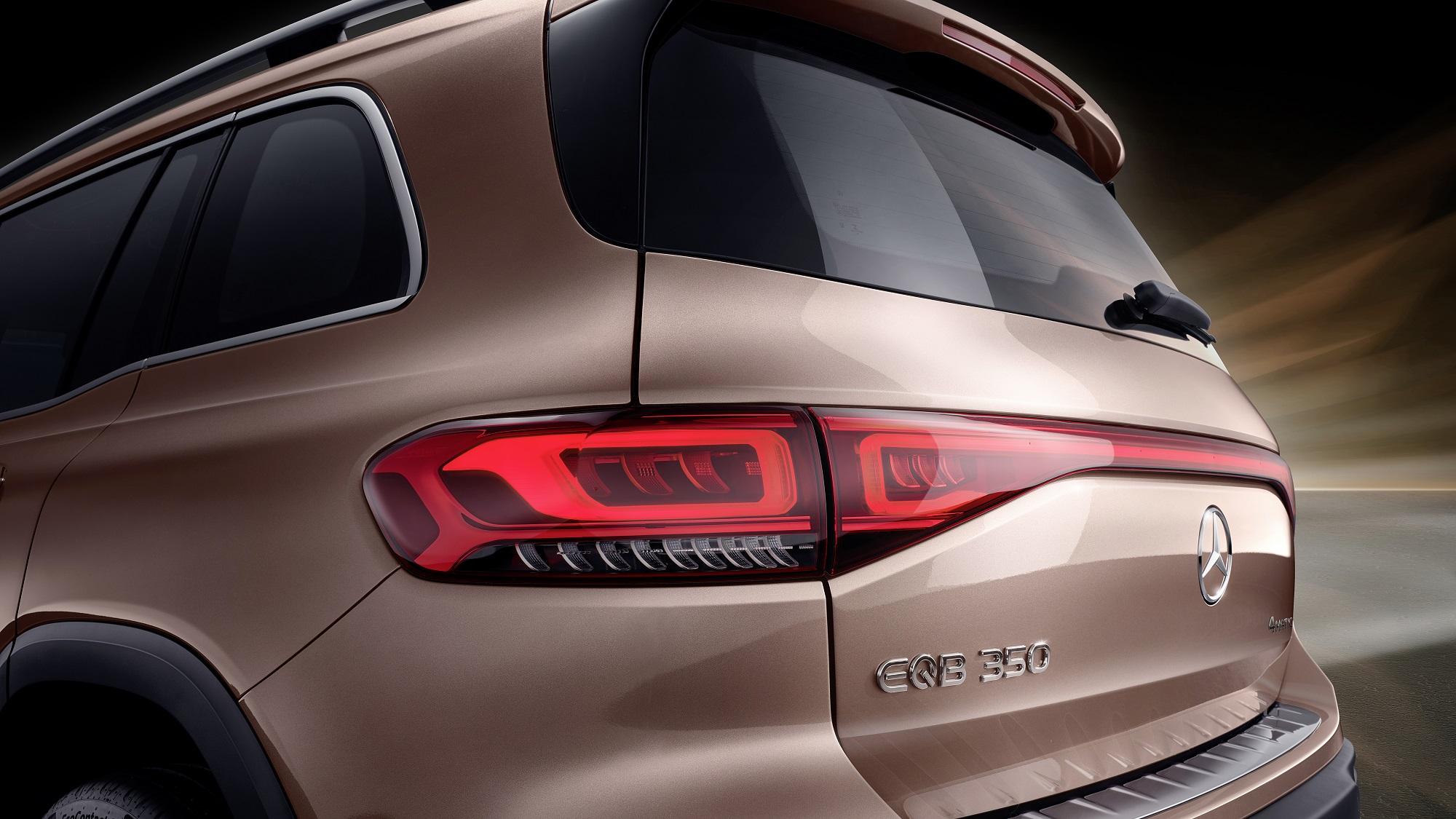 Mercedes-EQ, EQB, 2021; Electric Art Line, Farbe roségold; EQB 350 4MATIC (Stromverbrauch kombiniert: 16,2 kWh/100 km; CO2-Emissionen kombiniert: 0 g/km) // Mercedes-EQ, EQB, 2021; Electric Art Line, rose gold; EQB 350 (combined power consumption: 16.2 kWh/100 km, combined CO2 emissions: 0 g/km)
