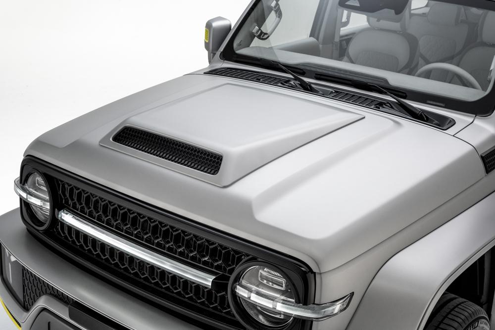Corpinho de Mercedes, rostinho de Ford Bronco
