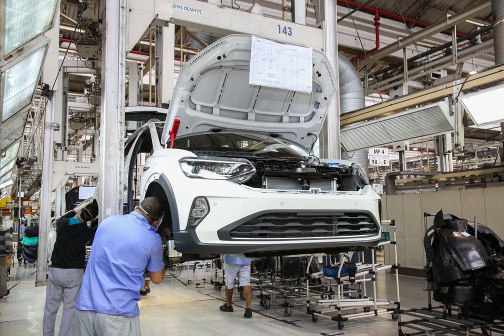 Volkswagen Nivus na linha de produção