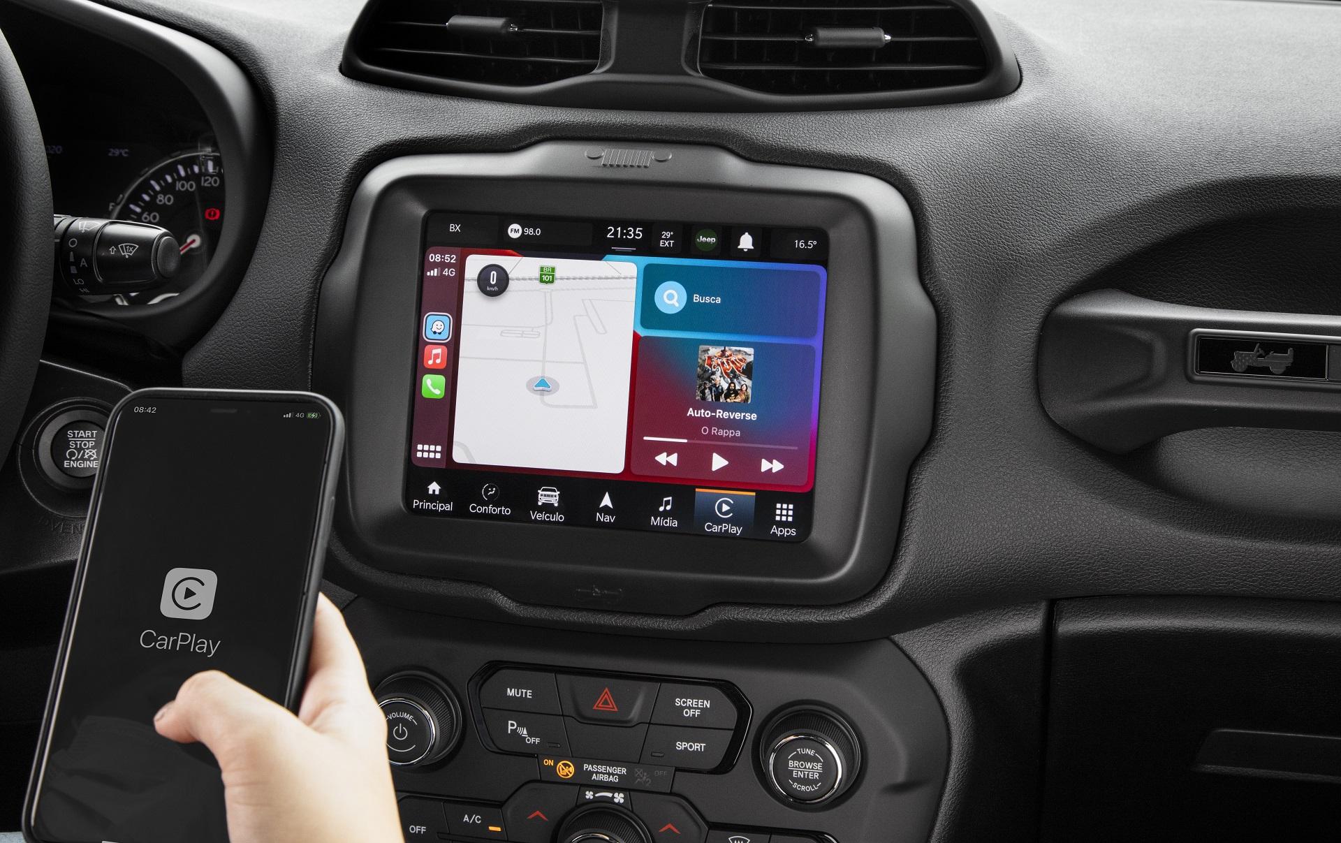 Nova central multimídia traz Android Auto e Apple Carplay em versões sem fio e roteia 4G da Tim para até oito dispositivos