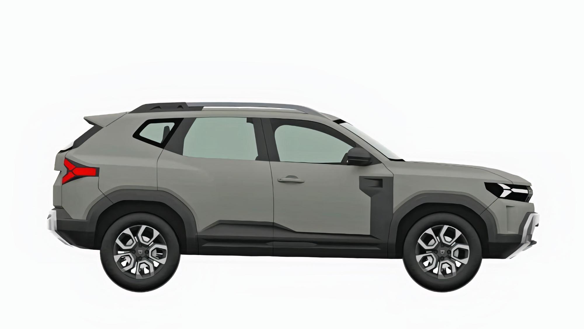 Renault Bigster cinza visto de lado