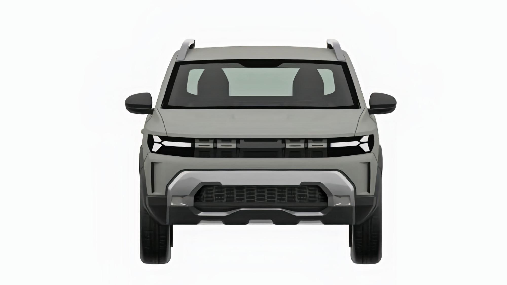 Renault Bigster cinza visto de frente
