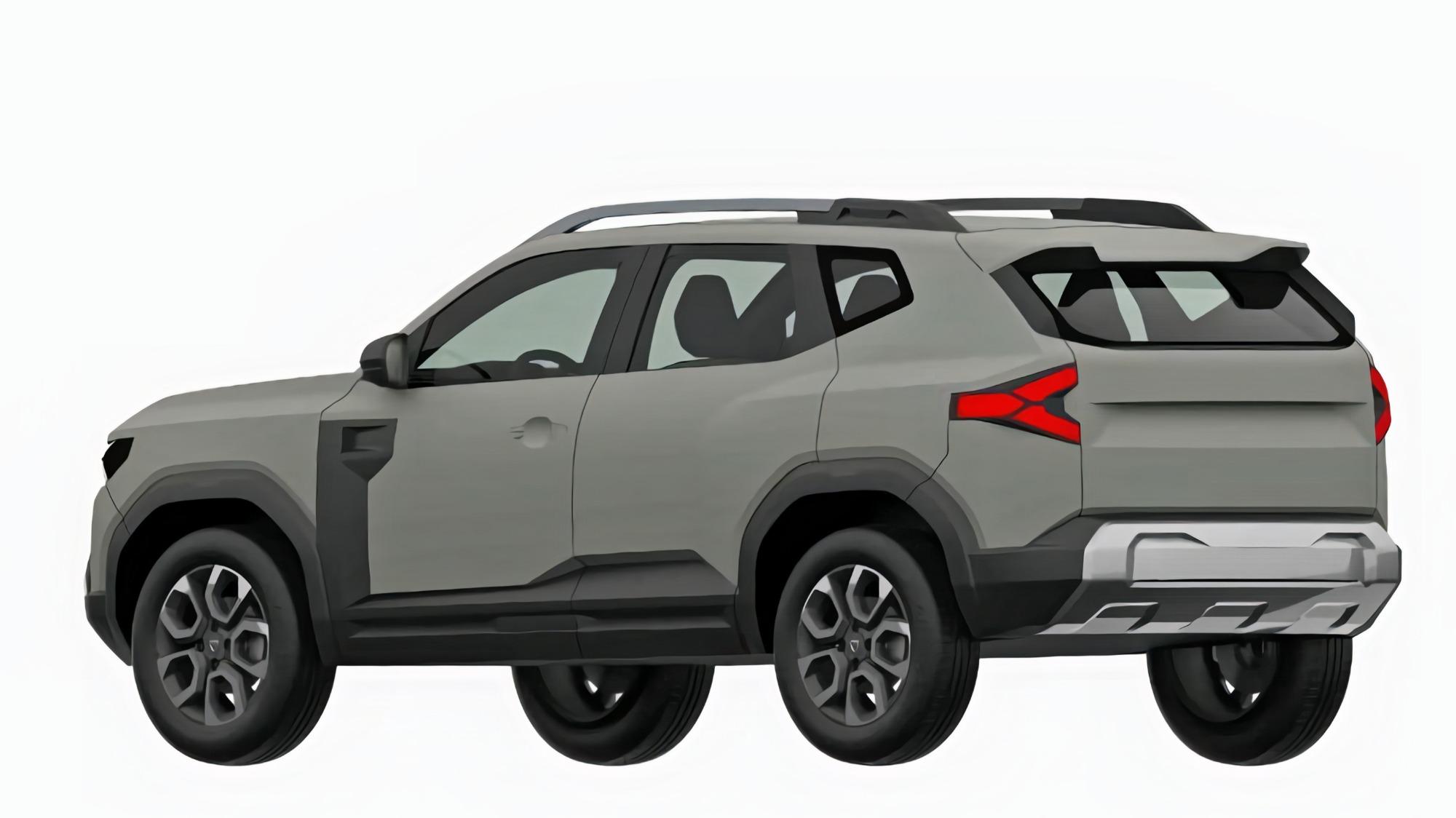 Renault Bigster cinza visto 3/4 de trás