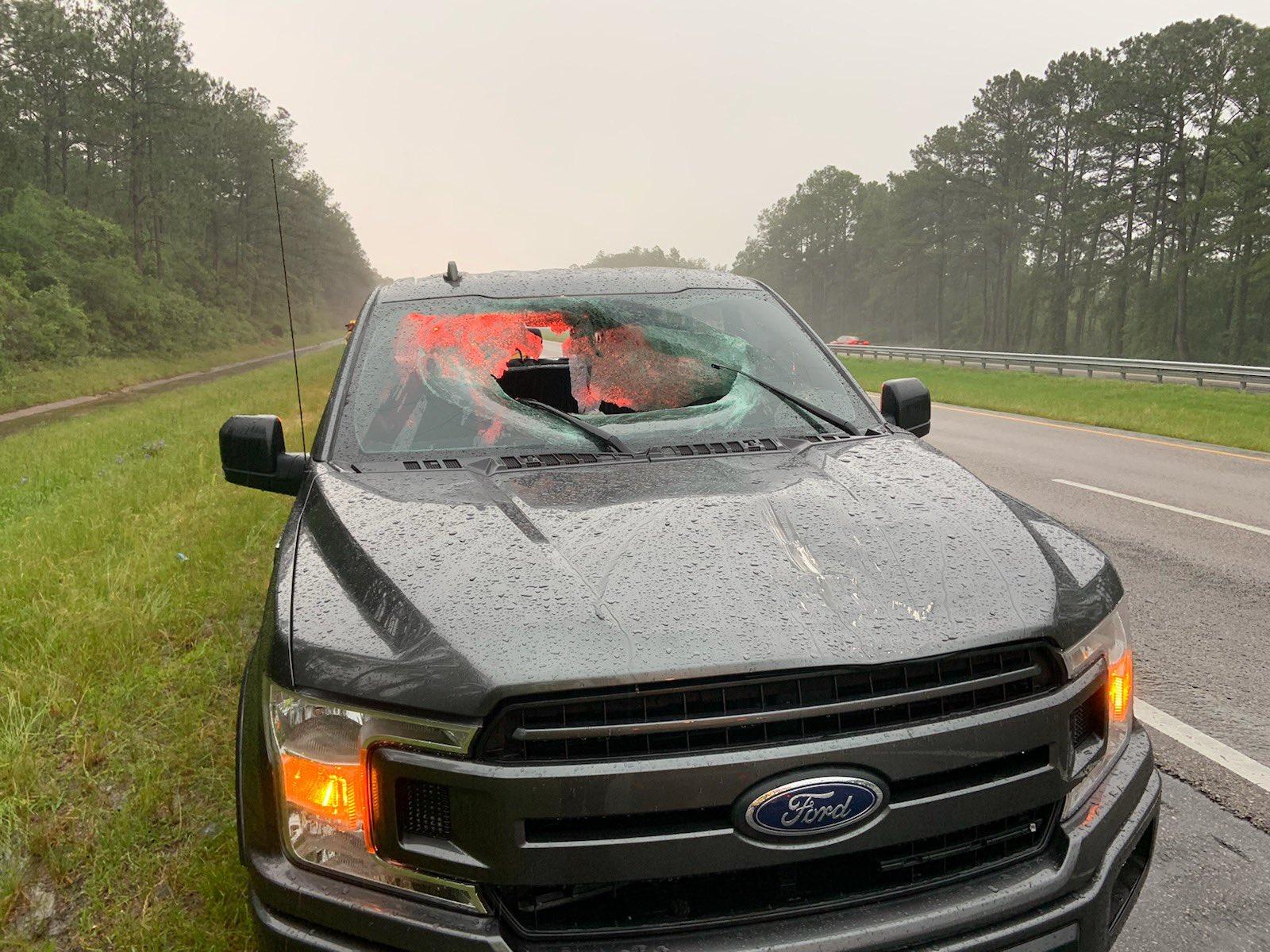 F-150 atingida por raio na Flórida
