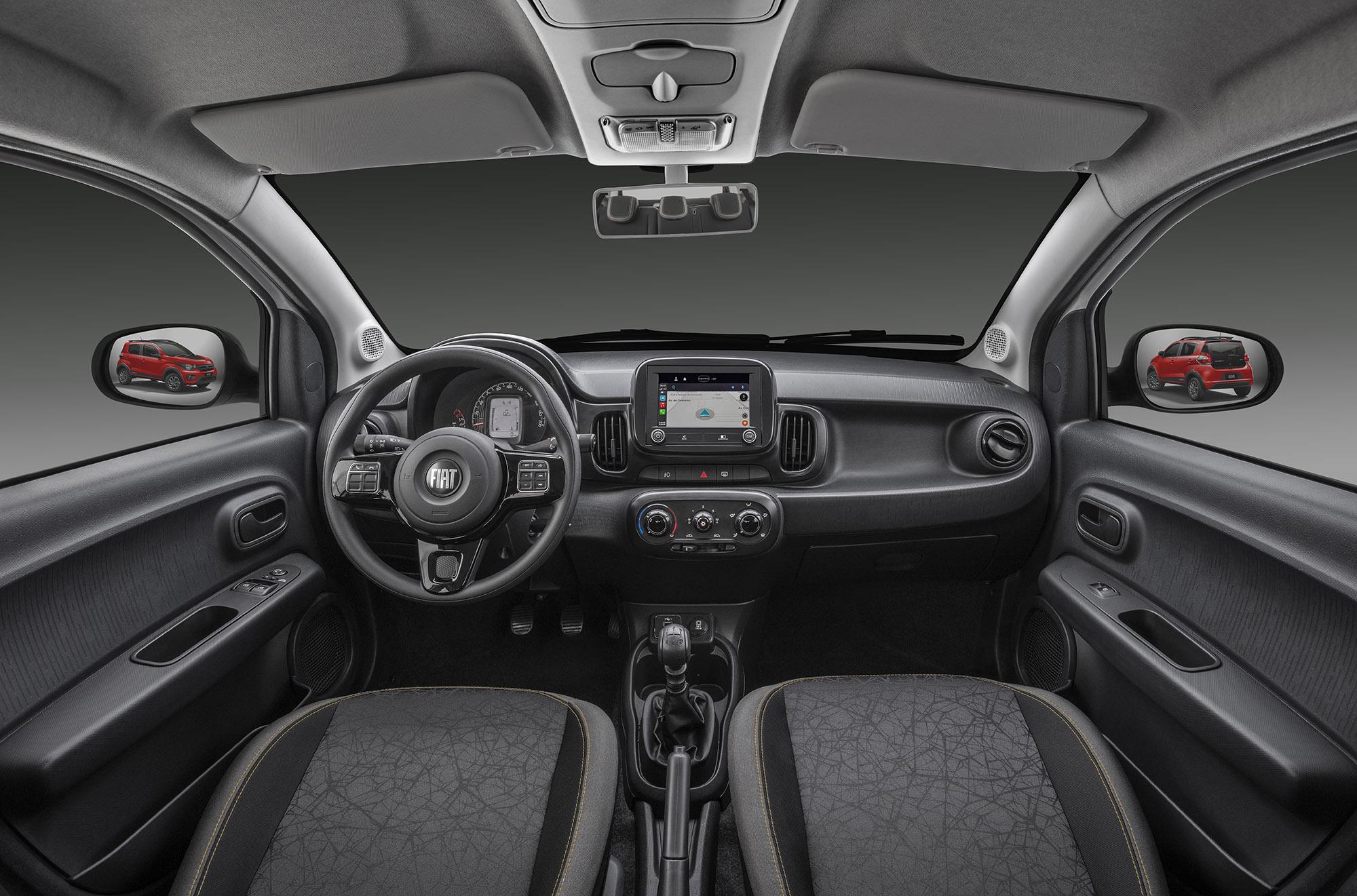 Fiat Mobi Trekking 2022 primeira fileira