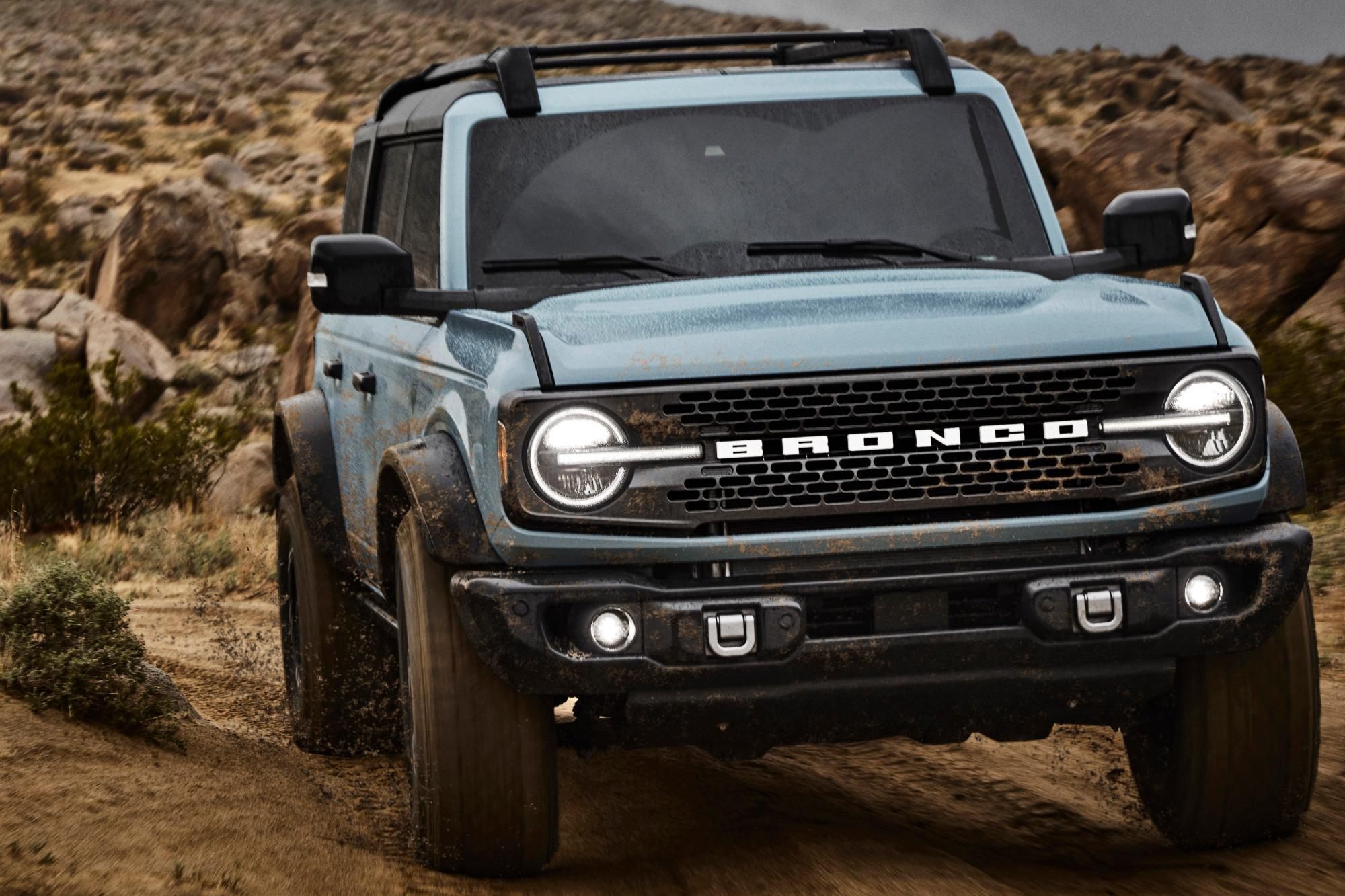 Ford Bronco 2021 quatro portas frente