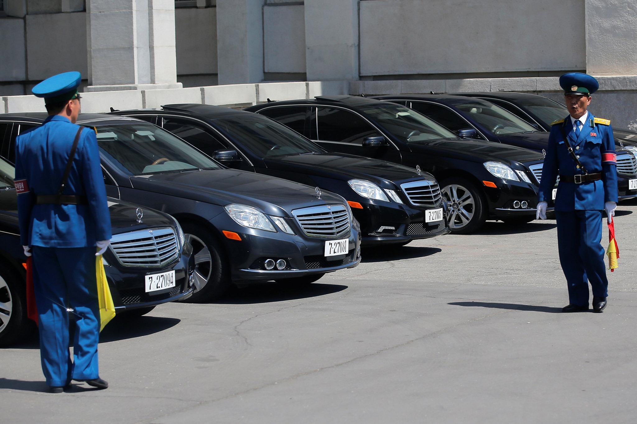 Frota de Mercedes em Pyongyang