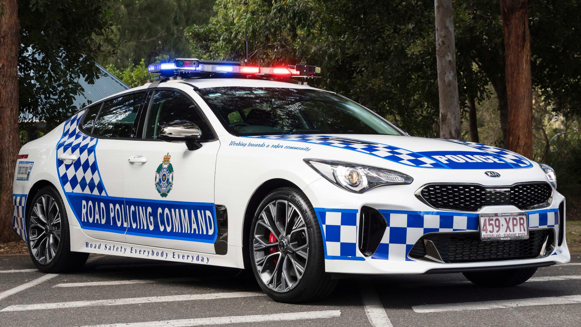 Kia Stinger GT policia australiana frente