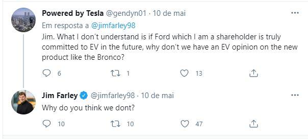 tweet ceo ford Jim Farley