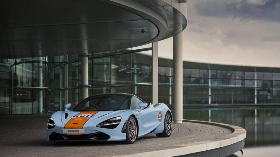 A parceria entre McLaren e Gulf Oil, revivida a partir de 2020, que deu origem ao projeto para o 720S