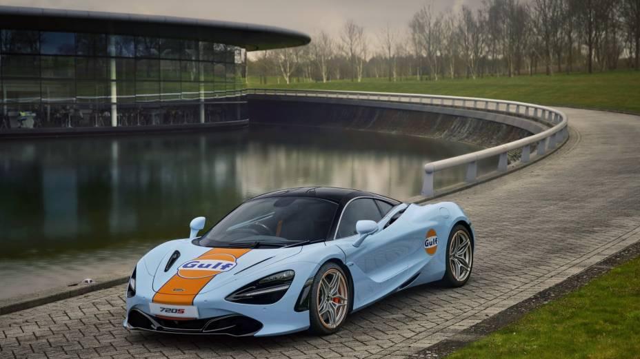 O novo design conta com o logo da Gulf Oil em algumas parte do carro