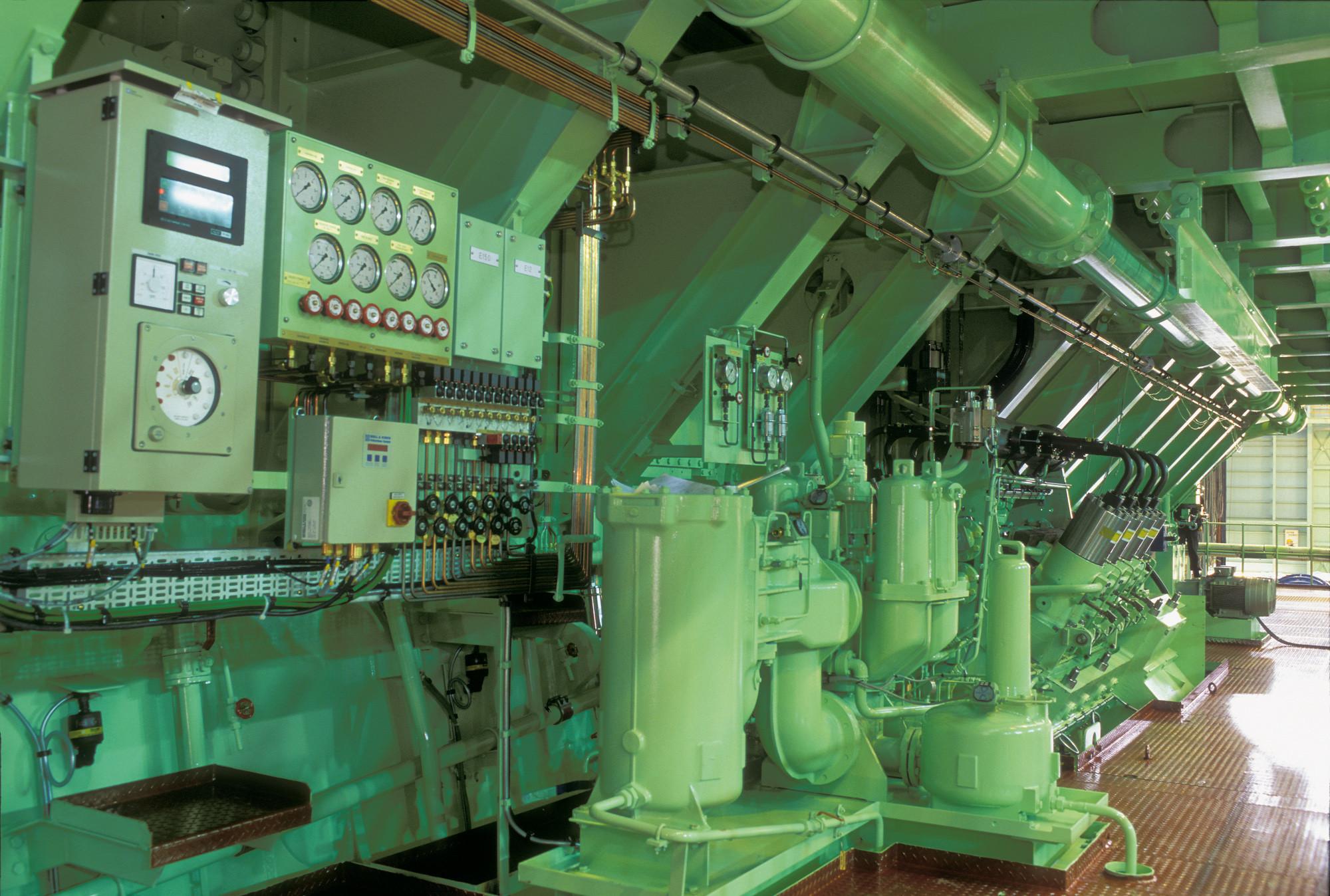 O motor não só é o maior, como também o mais potente motor a diesel do mundo.