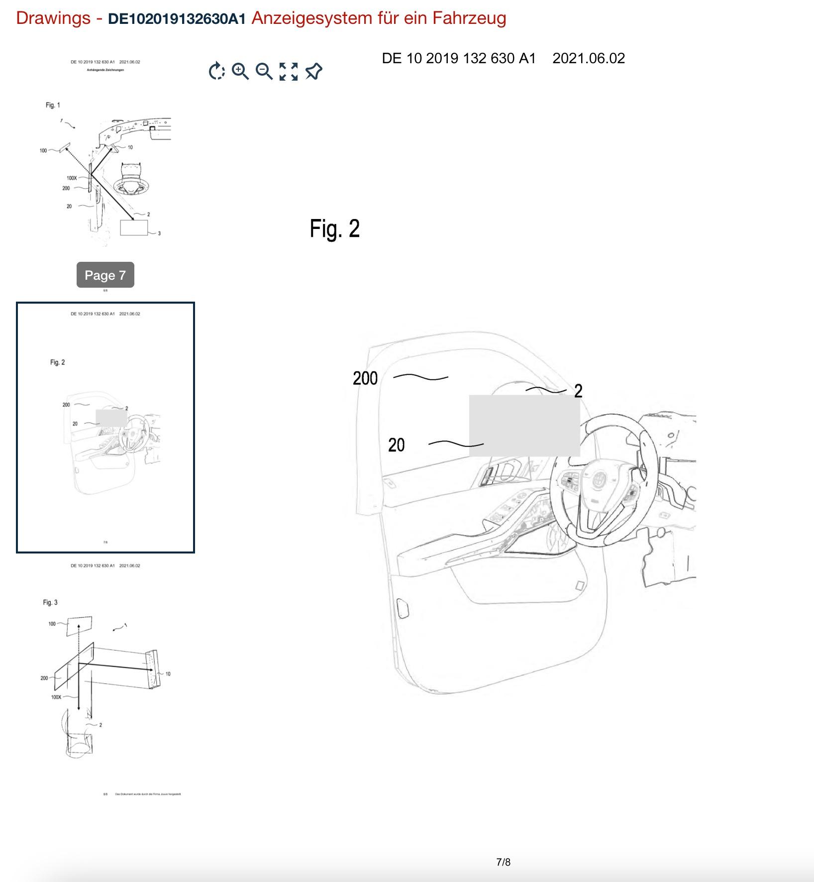 retrovisor virtual da bmw desenho