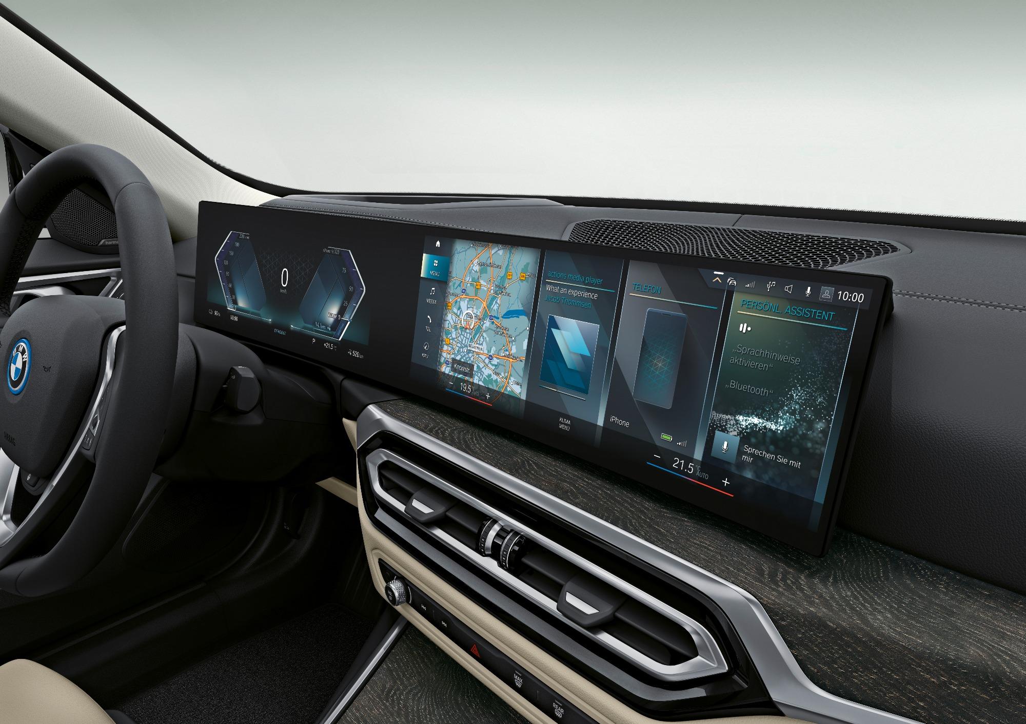 Painel do BMW i4 eDrive40