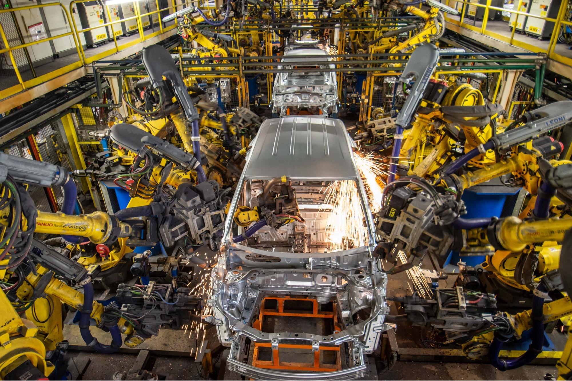linha de produção GM