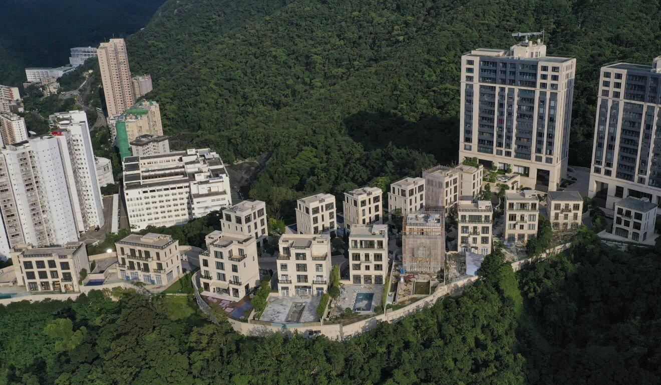 Vista do condomínio Mount Nicholson, em Hong Kong