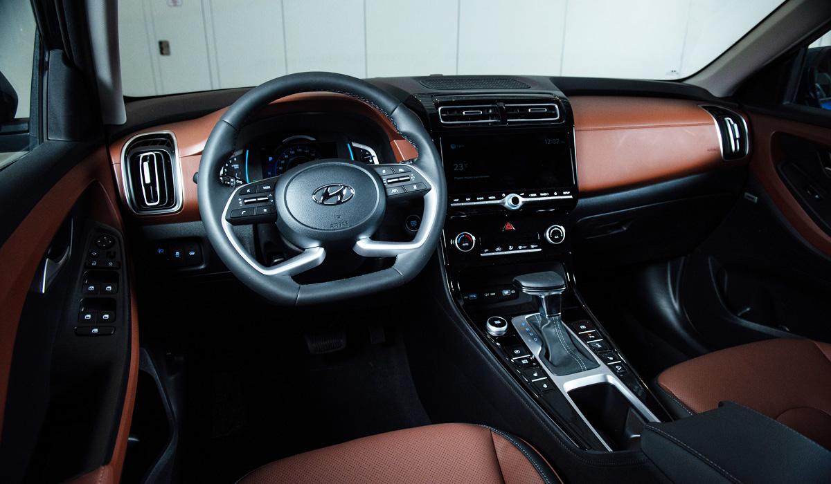 Interior da versão russa do novo Hyundai Creta