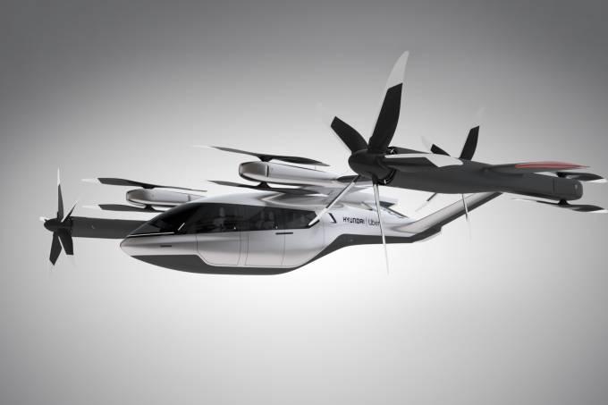Carro voador da Hyundai com a Uber