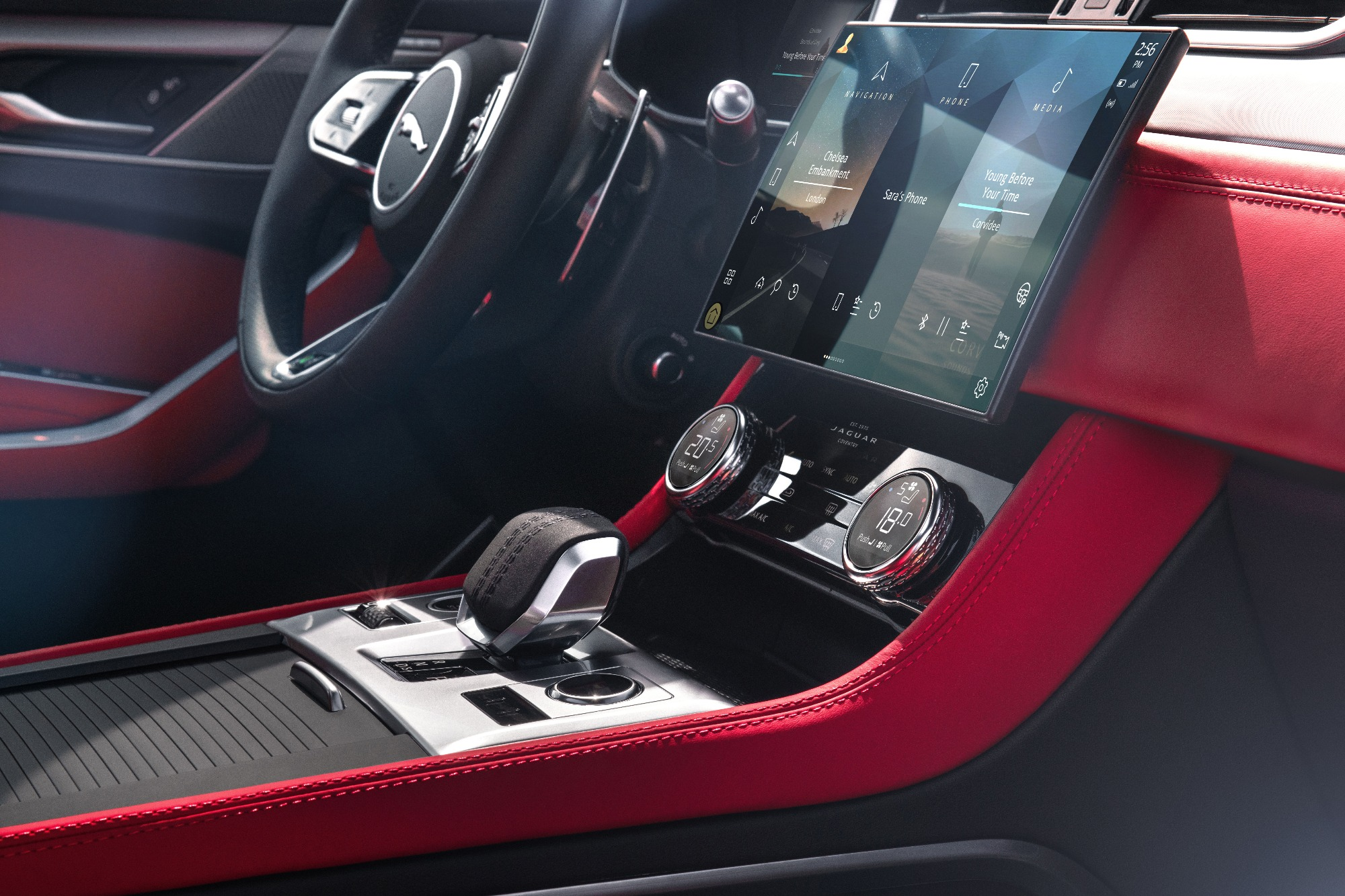 Imagem do câmbio do Jaguar F-PACE