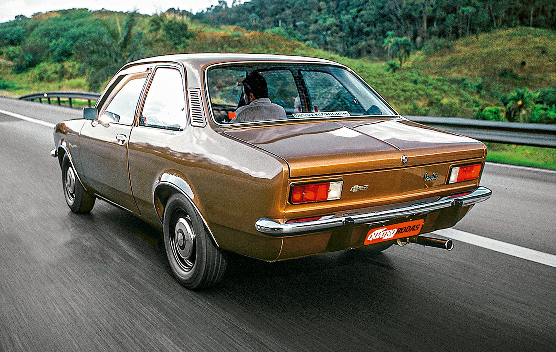 Chevette, da Chevrolet, automóvel testado pela Revista Quatro Rodas.