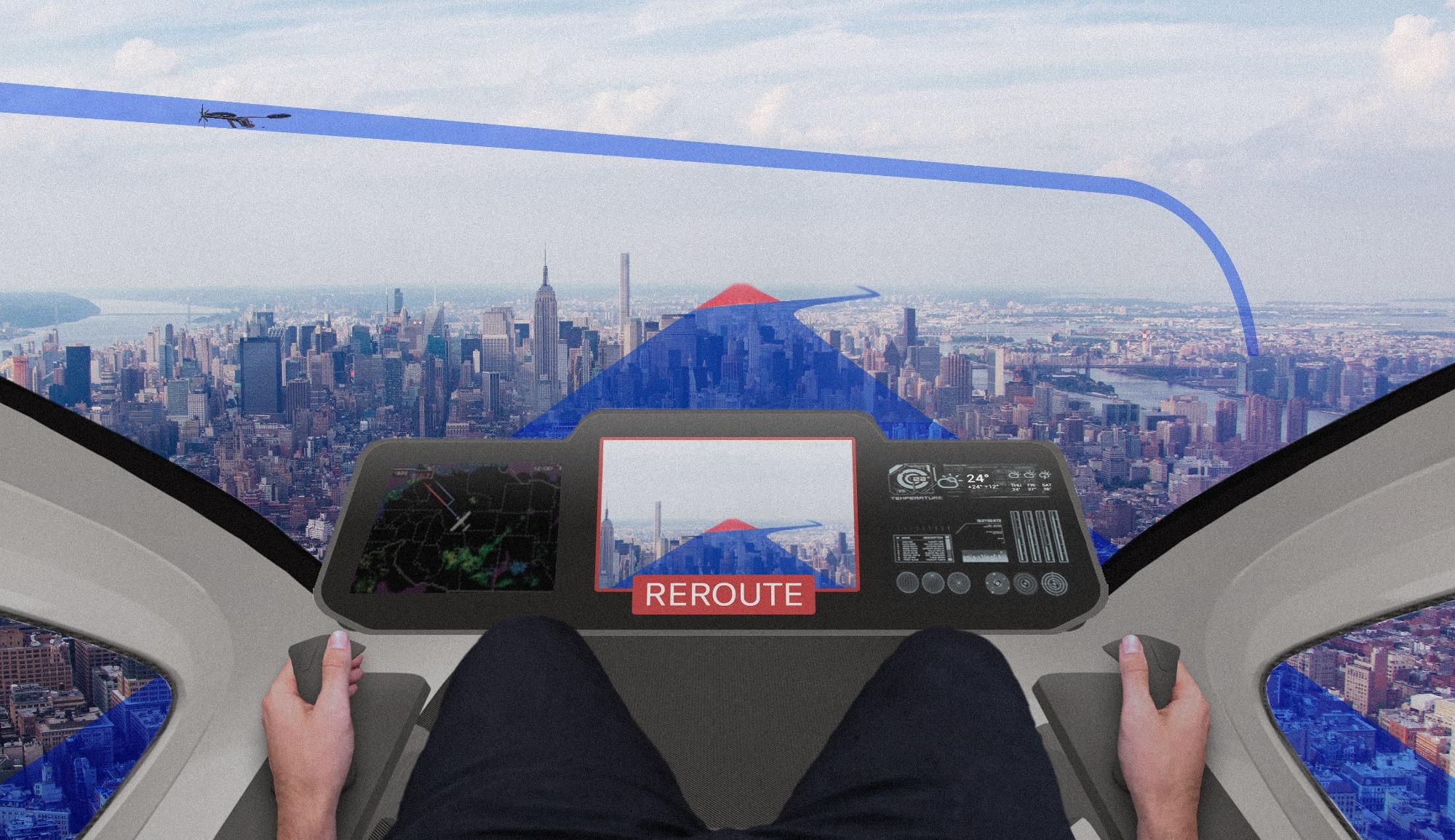 cockpit carro voador da embraer