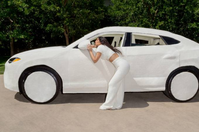 "Lamborghini Urus ""de pelúcia"""