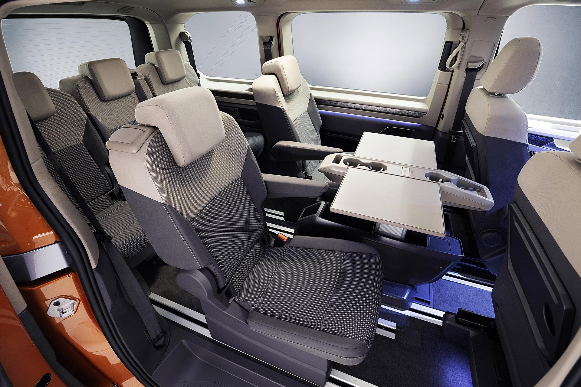 Volkswagent T7 Multivan interior