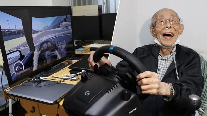 Senhor japones de 93 anos volta a dirigir nos video-games