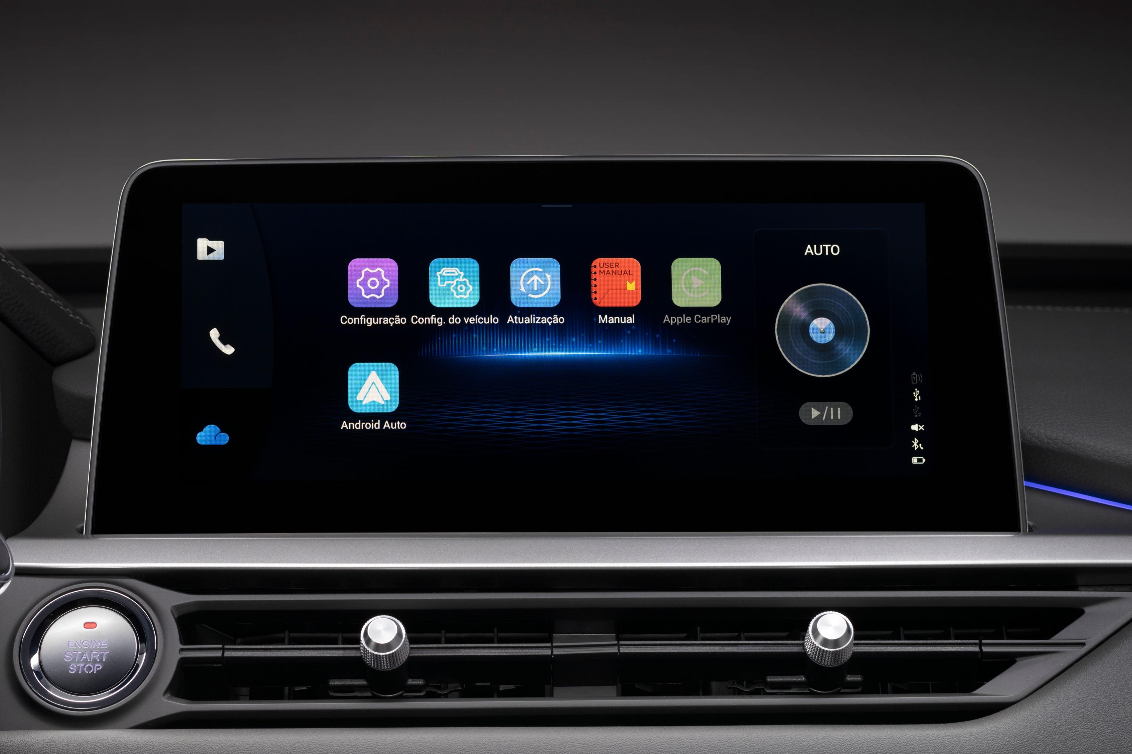 sistema multimidia do tiggo 8 agora contará com android auto