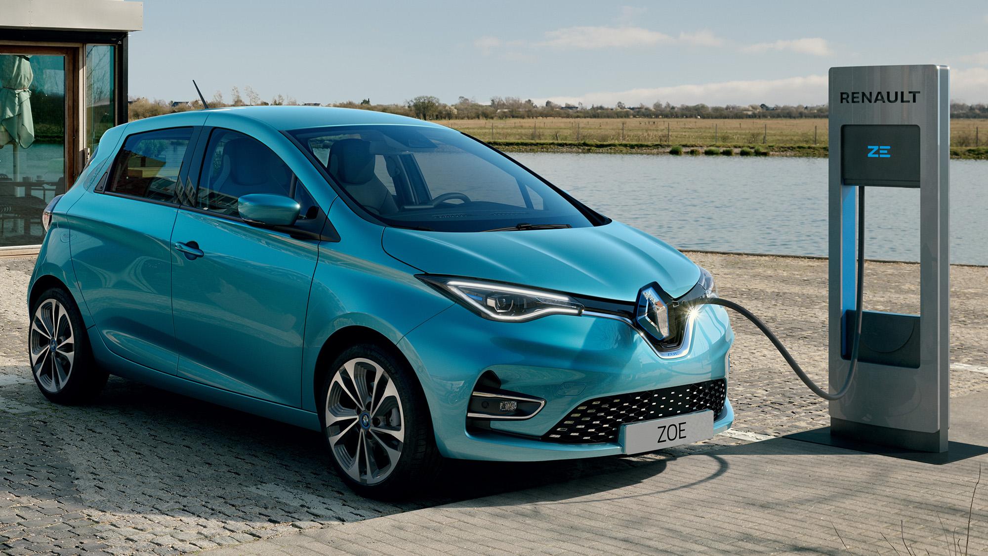 Renault Zoe azul célon