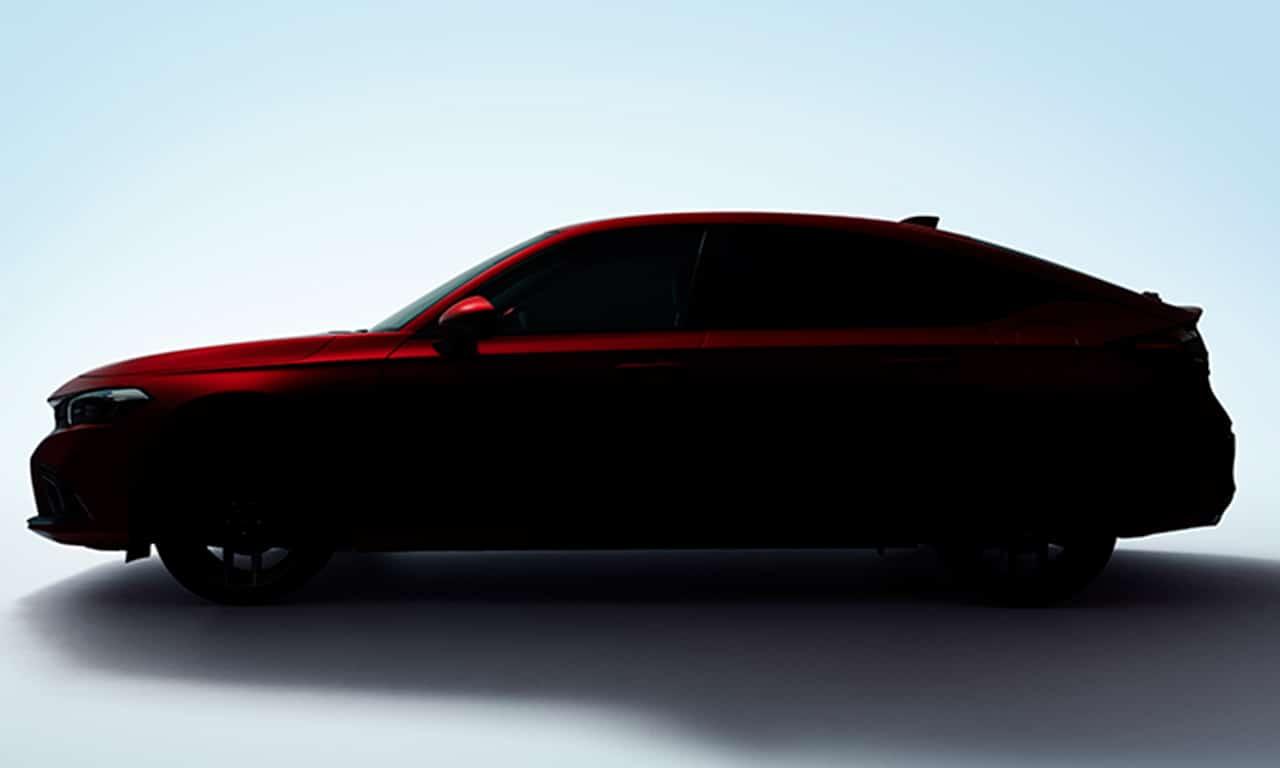 Teaser revela silhueta do novo Honda Civic Hatch