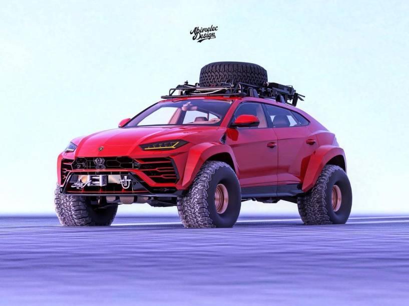 Versão da Lamborghini Urus para neve criado por Arellano