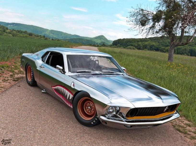Versão do Ford Mustang 69 criada por Arellano