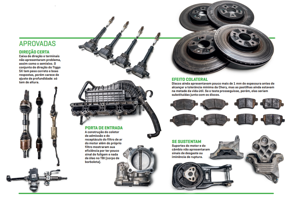 Aprovadas motor e freio tiggo 5x