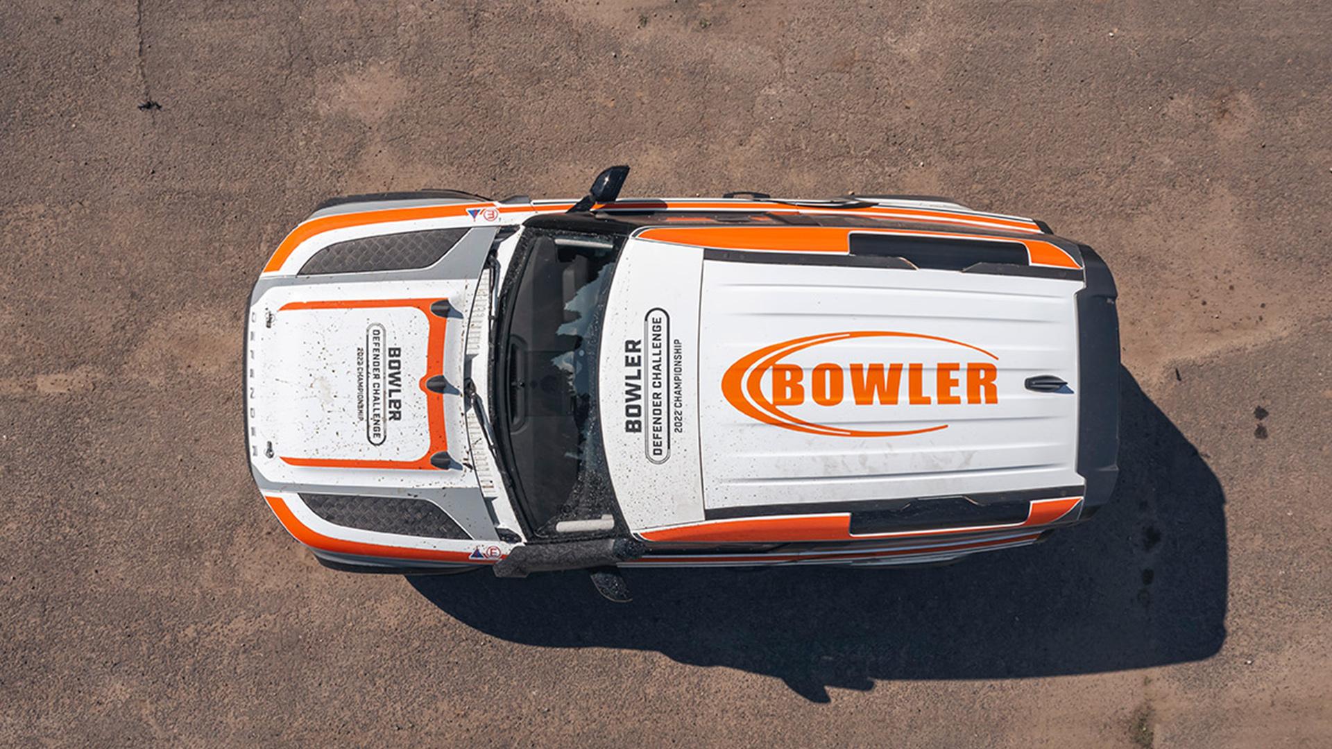 Visão de cima do Defender modificado pela Bowler