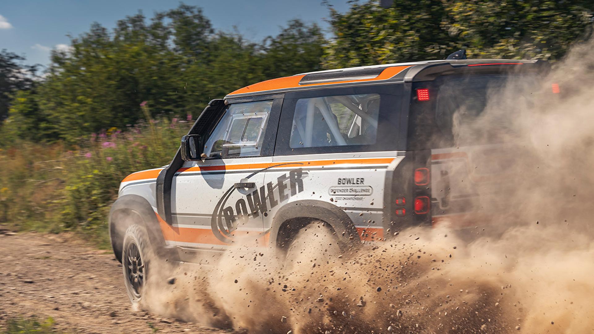 O Defender Modificado pela Bowler será um veículo exclusivo para rallys