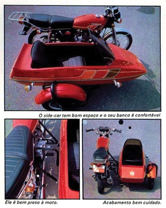 Imagens da Honda CG sidecar vermelha