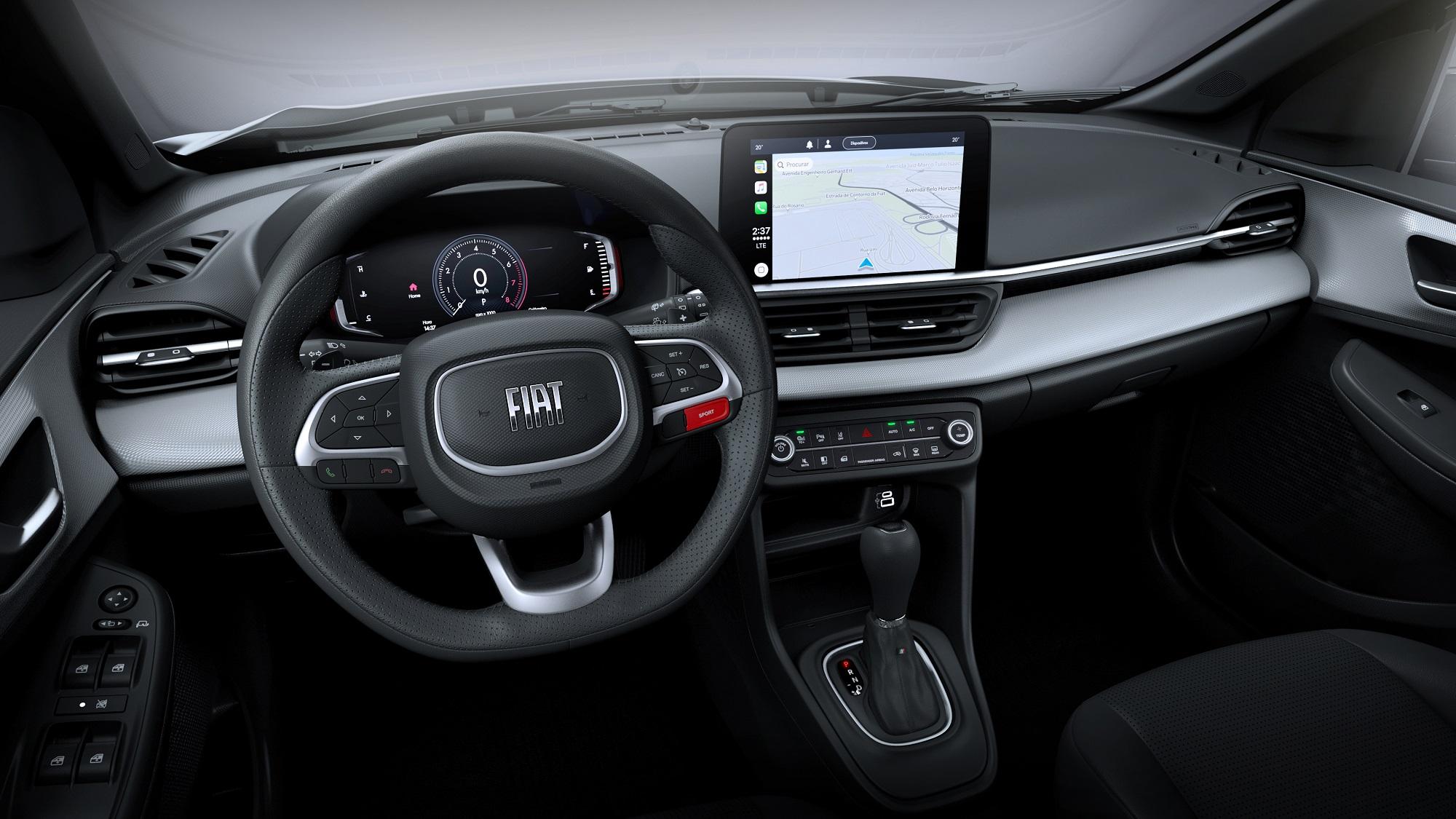 Painel da versão de topo do novo SUV da Fiat, Pulse
